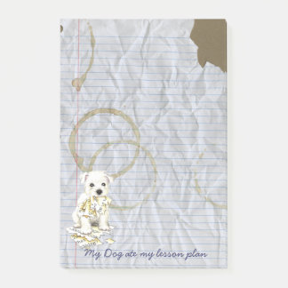 My Westie Ate my Lesson Plan Post-it Notes