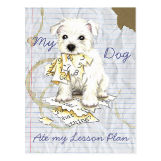 My Westie Ate My Lesson Plan Postcard