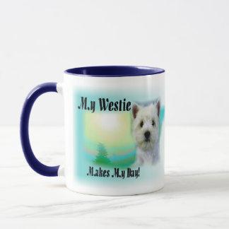 My Westie Makes My Day Mug