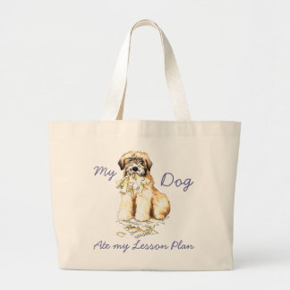 My Wheaten Ate My Lesson Plan Large Tote Bag