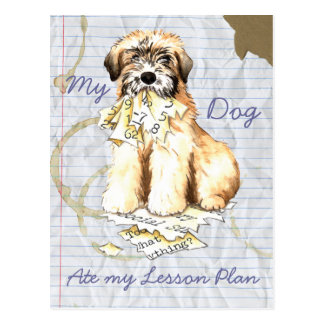 My Wheaten Ate My Lesson Plan Post Card