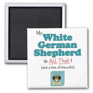 My White German Shepherd is All That! Magnet