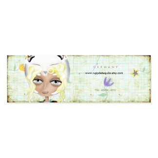 My white ideas are protected old styled Business C Double-Sided Mini Business Cards (Pack Of 20)