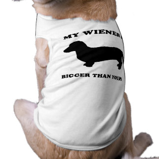 My Wiener is bigger than yours Pet Tshirt