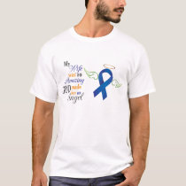My Wife An Angel - Anal Cancer T-Shirt