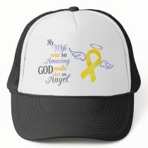 My Wife An Angel - Bladder Cancer Trucker Hat