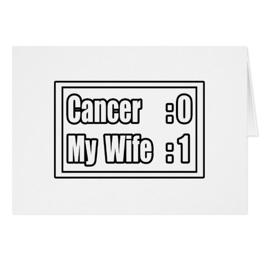 My Wife Beat Cancer (Scoreboard) Greeting Cards