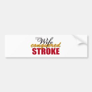 My Wife Conquered Stroke Bumper Sticker