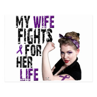 My WIFE Fights.... Post Card