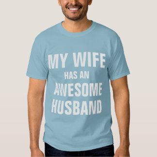 My wife has an awesome husband tee shirt