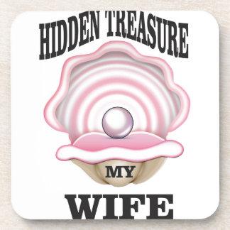 my wife hidden treasure yeah beverage coaster
