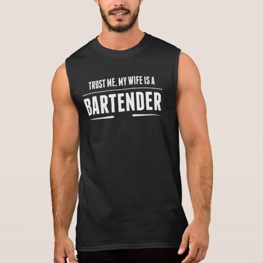 My Wife Is A Bartender Sleeveless Shirts Tank Tops, Tanktops Shirts