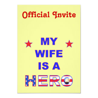 My Wife Is A Hero Card