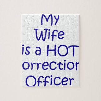 My wife is a hot corrections officer jigsaw puzzle