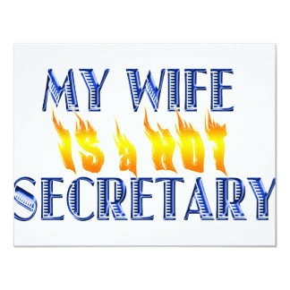 MY WIFE IS A HOT SECRETARY CARD