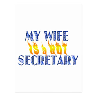 MY WIFE IS A HOT SECRETARY POSTCARD