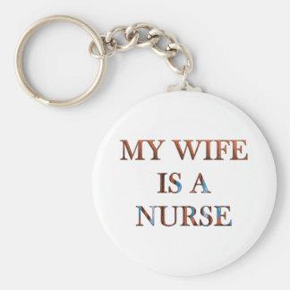 My Wife is a Nurse Keychain