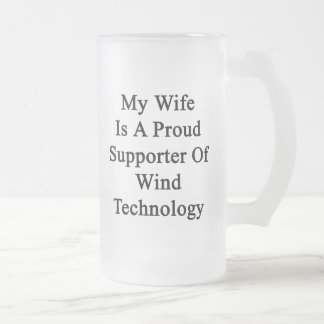My Wife Is A Proud Supporter Of Wind Technology Coffee Mugs