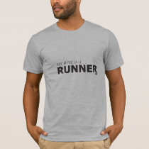 MY WIFE IS A RUNNER 10K/GYNECOLOGIC-OVARIAN CANCER T-Shirt