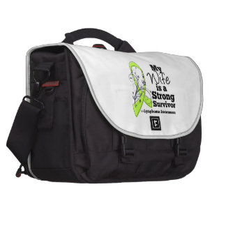 My Wife is a Strong Survivor of Lymphoma Bags For Laptop