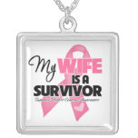 My Wife is a Survivor - Breast Cancer Custom Jewelry