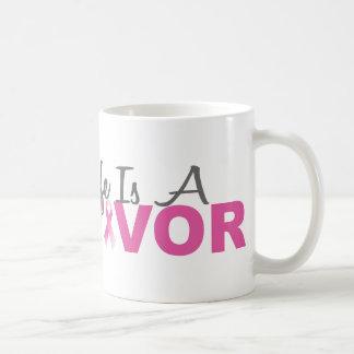 My Wife Is A Survivor (Breast Cancer Pink Ribbon) Coffee Mug
