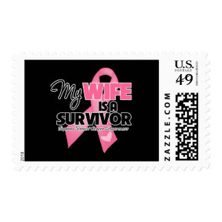 My Wife is a Survivor - Breast Cancer Postage Stamp