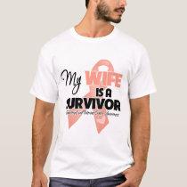 My Wife is a Survivor - Uterine Cancer T-Shirt