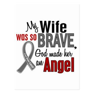 My Wife Is An Angel 1 Brain Cancer Post Card