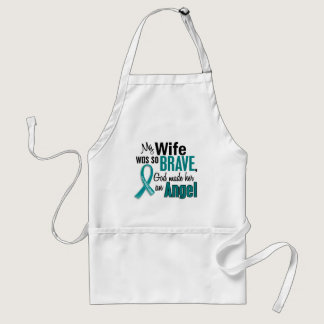 My Wife Is An Angel 1 Ovarian Cancer Adult Apron