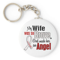 My Wife Is An Angel Lung Cancer Keychain