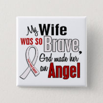 My Wife Is An Angel Lung Cancer Pinback Button