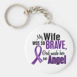My Wife Is An Angel Pancreatic Cancer Keychain