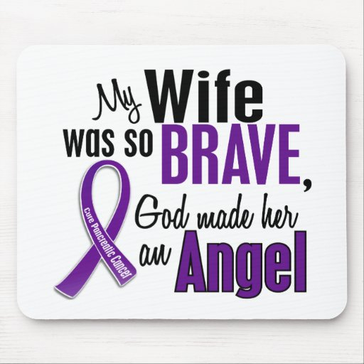 My Wife Is An Angel Pancreatic Cancer Mouse Pads