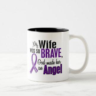 My Wife Is An Angel Pancreatic Cancer Two-Tone Coffee Mug