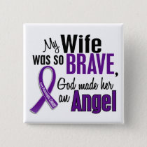 My Wife Is An Angel Pancreatic Cancer Pinback Button