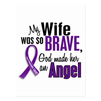 My Wife Is An Angel Pancreatic Cancer Postcard