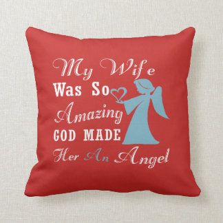 My Wife is an Angel Throw Pillow