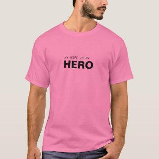 MY WIFE IS MY HERO/BREAST CANCER SURVIVOR T-Shirt