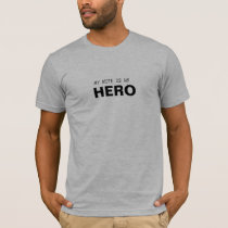 MY WIFE IS MY HERO/GYNECOLOGIC-OVARIAN CANCER T-Shirt