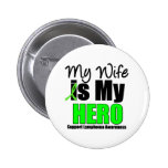 My Wife is My Hero - Lymphoma 2 Inch Round Button