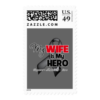 My Wife is My Hero - Skin Cancer Stamps