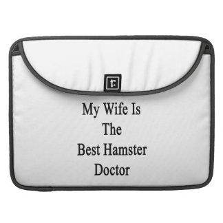 My Wife Is The Best Hamster Doctor MacBook Pro Sleeve
