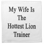 My Wife Is The Hottest Lion Trainer Printed Napkin