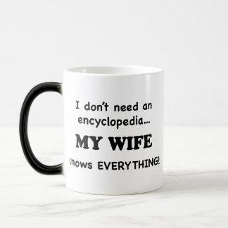 My Wife Knows Everything Magic Mug