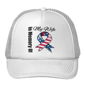My Wife Memorial Patriotic Ribbon Trucker Hat