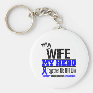 My Wife, My Hero Colon Cancer Key Chains