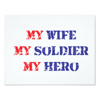 My Wife, My Soldier, My Hero Personalized Invite