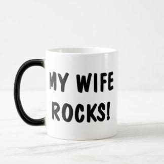 My Wife Rocks Magic Mug