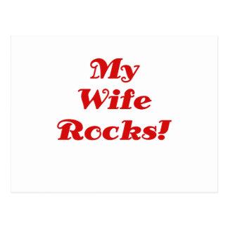 My Wife Rocks Postcard